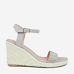 Dorothy Perkins - Grey Rhia Espadrille Wedge Sandals