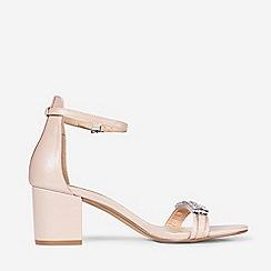 Dorothy Perkins - Showcase Nude Polyurethane Sapphire Sandals