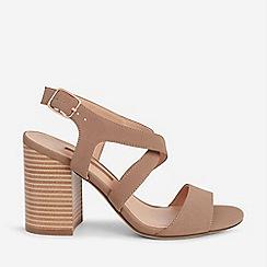 Dorothy Perkins - Taupe Spye Crossover Heel Sandals