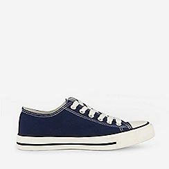 Dorothy Perkins - Navy Canvas Trainers