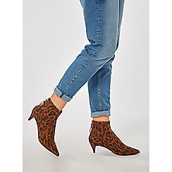 Dorothy Perkins - Leopard print anaconda ankle boots