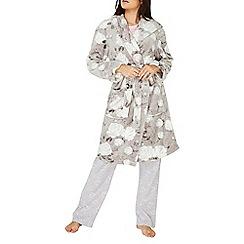 Dorothy Perkins - Grey floral printed dressing gown
