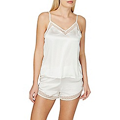 Dorothy Perkins - Ivory spot mesh camisole top and pyjama set