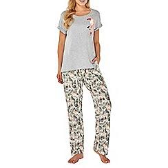 Dorothy Perkins - Grey toucan pocket long pyjama set
