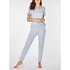Dorothy Perkins - Blue hello weekend joggers