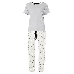 Dorothy Perkins - Grey butterfly frill pyjama set
