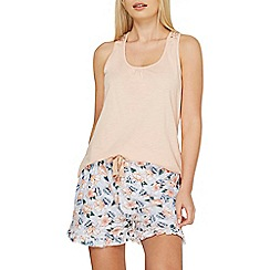 Dorothy Perkins - Lace racer back short pyjama set