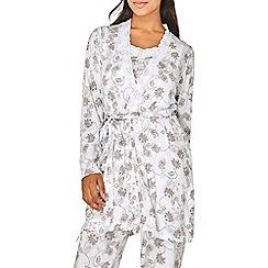 Dorothy Perkins - Mink floral print summer dressing gown