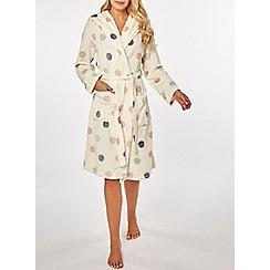 Dorothy Perkins - Cream spot wellsoft robe