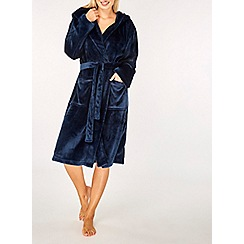 Dorothy Perkins - Navy plain wellsoft robe