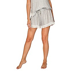 Dorothy Perkins - Grey loungewear lace trimmed shorts