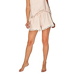 Dorothy Perkins - Blush loungewear lace trimmed shorts