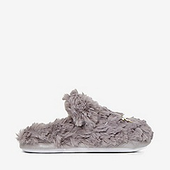 385a1de5e798 Dorothy Perkins - Grey cat fluffy mule slippers