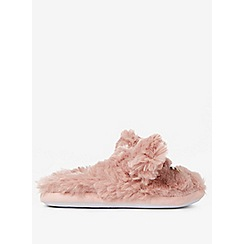 Dorothy Perkins - Blush cat fluffy mule slippers