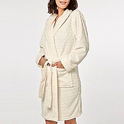Dorothy Perkins - Cream zigzag clipped dressing gown