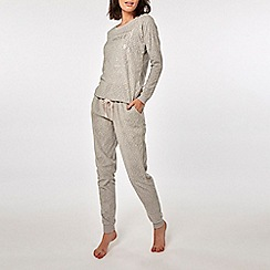 Dorothy Perkins - Grey woke up like this twosie pyjama set