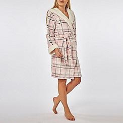 Dorothy Perkins - Pink check lambi robe