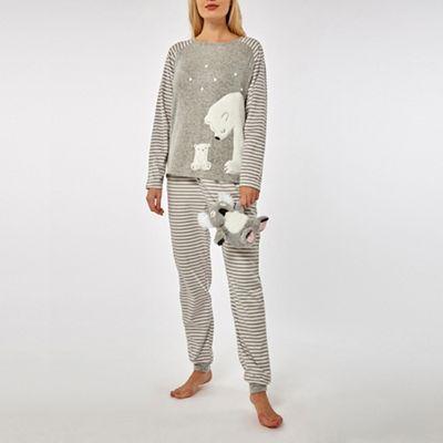 c232e5cf0d Dorothy Perkins Grey polar bear snuggle pyjama set