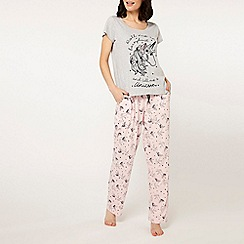 Dorothy Perkins - Pink unicorn glitter pyjamas set