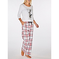 Dorothy Perkins - Multi-coloured embellished rabbit motif pyjama set
