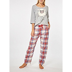 Dorothy Perkins - Grey sleepy sheep pyjamas