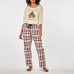 Dorothy Perkins - Oatmeal catching dreams pyjama set