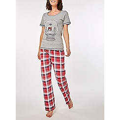 Dorothy Perkins - Grey let it snow pyjamas