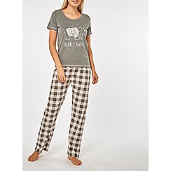 Dorothy Perkins - Grey polar bear pyjama set