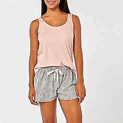 Dorothy Perkins - Grey and pink bunny short pyjama set in a bag