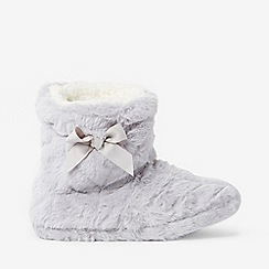 Dorothy Perkins - Grey clipped faux fur bootie