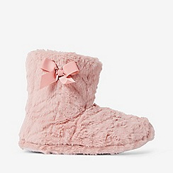 Dorothy Perkins - Pink clipped faux fur booties