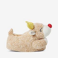Dorothy Perkins - Cream reindeer slippers