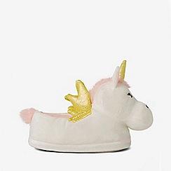 Dorothy Perkins - Cream unicorn slippers