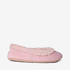 Dorothy Perkins - Blush faux fur trim ballerina