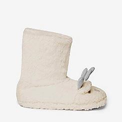 Dorothy Perkins - Cream fluffy reindeer bootie