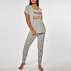 Dorothy Perkins - Grey sequin team santa pyjama set be24cfd2d