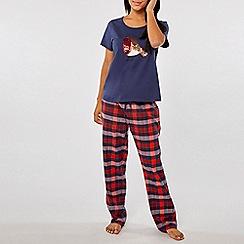 Dorothy Perkins - Blue robin sequin pyjama set