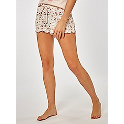 Dorothy Perkins - Pink coffee and star print shorts