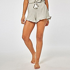 Dorothy Perkins - Grey Ribbed Shorts