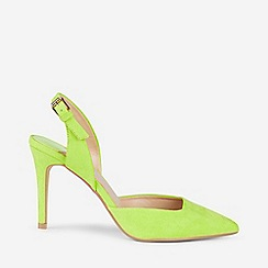 Dorothy Perkins - Wide Fit Lime Microfibre Destiny Court Shoes