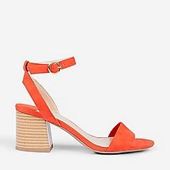 Dorothy Perkins - Wide Fit Orange Shady Block Heeled Sandals