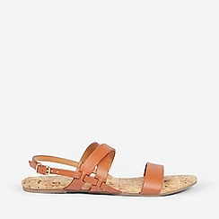 Dorothy Perkins - Wide Fit Tan Fabia Sandals
