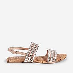 Dorothy Perkins - Wide Fit Silver Funk Flat Sandals