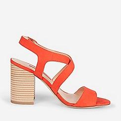 Dorothy Perkins - Orange Spye Crossover Heel Sandals