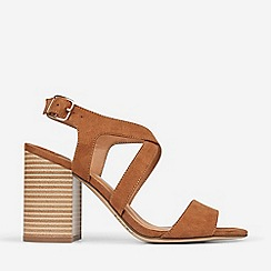 Dorothy Perkins - Wide Fit Tan Spye Crossover Sandals