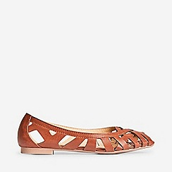 Dorothy Perkins - Wide Fit Tan Perla Weave Pumps