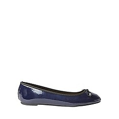 Dorothy Perkins - Wide fit navy pandora pumps