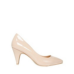 Dorothy Perkins - Wide fit nude diana court shoes