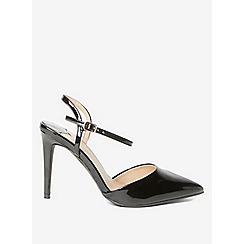 Dorothy Perkins - Wide fit black ena court shoes