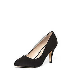Dorothy Perkins - Wide fit black 'claudia' court shoes